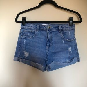 Zara highwaisted denim shorts